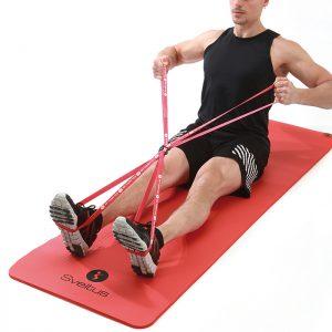 double bande elastique de renforcement musculaire