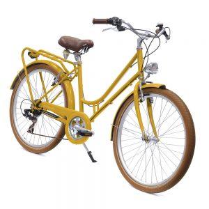 velo bicyclette jaune femme