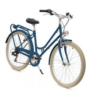 velo bleu vintage femme
