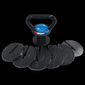 kettlebell ajustable avec poids modulable