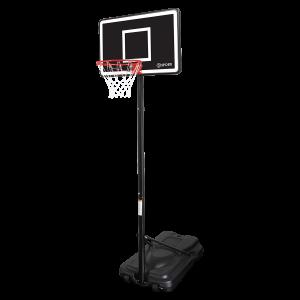 panier de basket sur pied a roulette