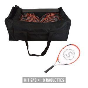 raquettes junior kit de 10 raquettes de tennis